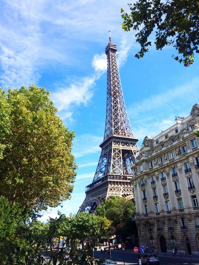 My Favorite Place Eiffel_tower  Paris France Summer Green Sky Nice Parisienne Beautiful IPhoneography