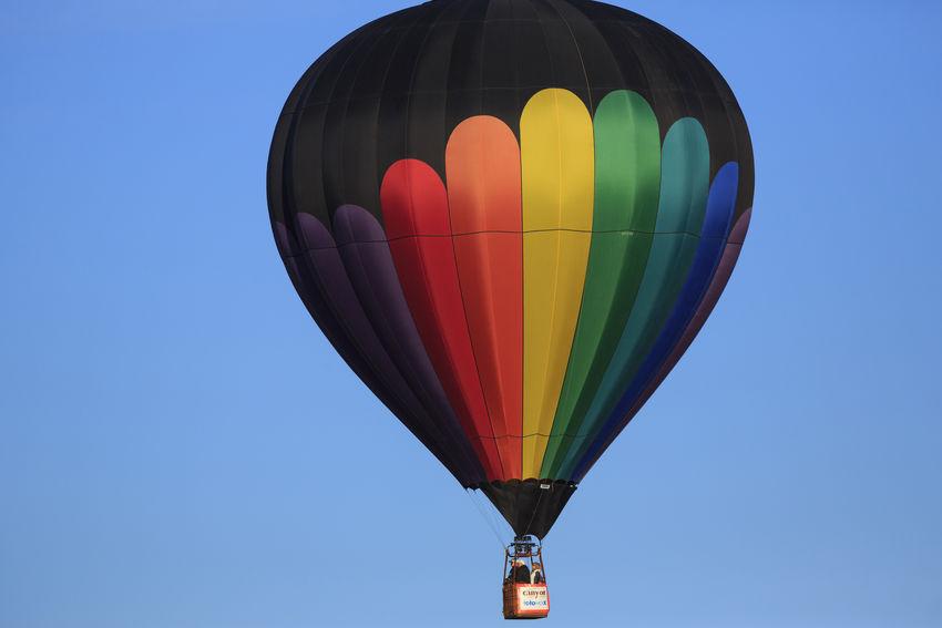 Hot air balloon at Balloons and Tunes Festival. Utah Hot Air Balloons Travel Flight Colorful USA First Eyeem Photo Canonphotography 5dmk3 5dmkiii Transportation Inflight