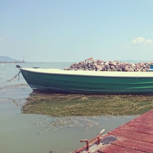 Green Boat on the Lake Balaton at Balatongyörök Hungary Mik Instahun Ig_hun Ikozosseg Travel Trip Summer Chill Relax The Great Outdoors - 2016 EyeEm Awards