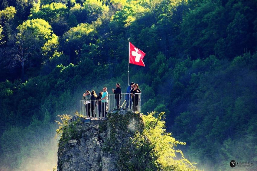 Rhine falls, Switzerland. Rhine Falls Switzerland Flag First Eyeem Photo Traveling Travelphotography Nabeelzphotography The Great Outdoors - 2017 EyeEm Awards Live For The Story Place Of Heart