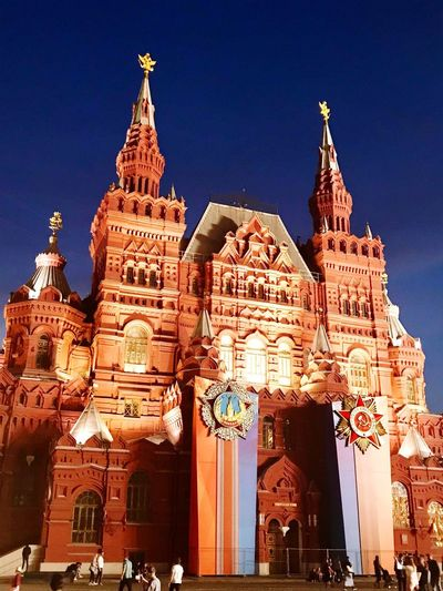 Photooftheday Kremlin Famous Place Beautiful Moscownight Moscow Architecture Building Exterior Built Structure Building Sky Travel Destinations Clear Sky Tourism Tower Place Of Worship Travel City Night