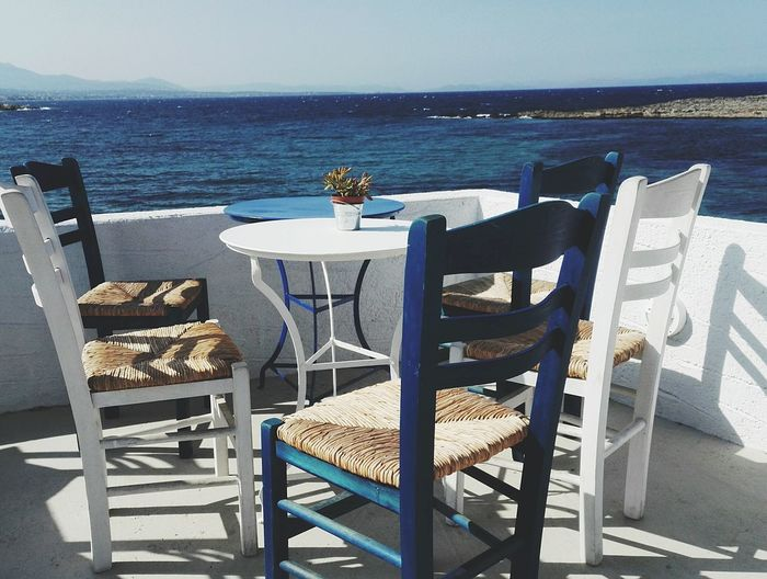 Water Sea Beach Luxury Place Setting Relaxation Chair Sand Table Summer Outdoor Cafe Deck Chair Calm Ocean Sandy Beach Horizon Over Water Tranquil Scene Countryside