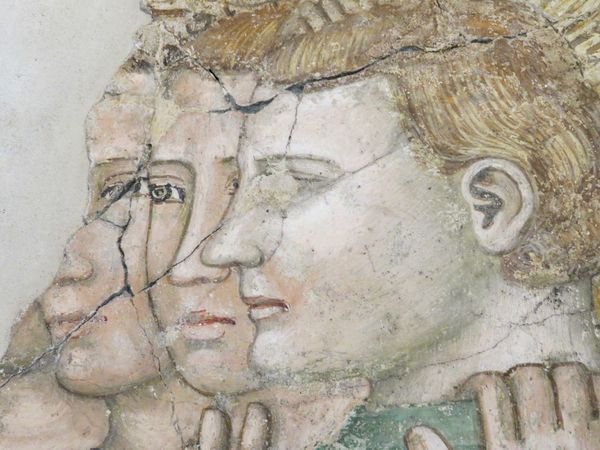 Art Close-up Cracked Detail Fresco Fresco Decorations Fresco Paintings Human Representation Middle Age No People Profiles