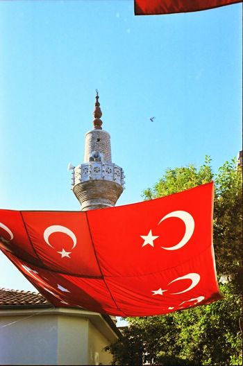 Istanbul Turkey Flag Red Minaret Travel Film Film Photography Analogue Photography Kodak Kodak Portra