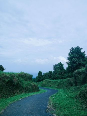 Tree Nature Traveling Semarang INDONESIA Sky Outdoors Rural Scene Tranquility Beauty In Nature Day Path To Nowhere Street Coldweather Hill Uphill Naturephotography First Eyeem Photo