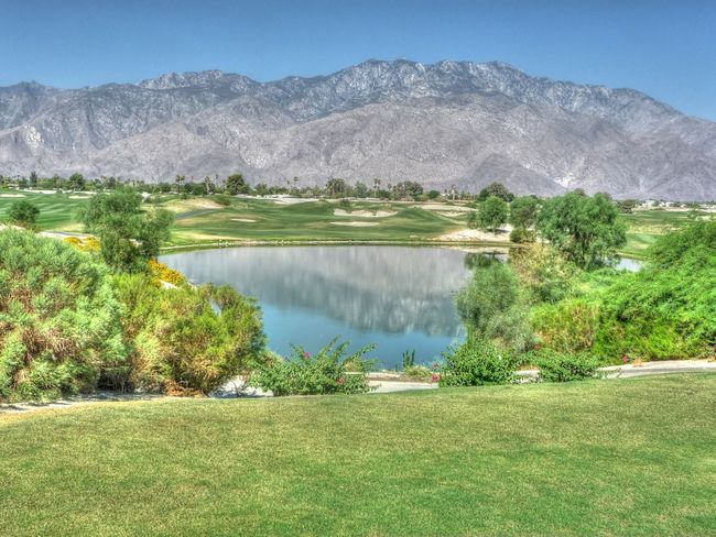 Beauty in golf Beauty In Nature Blue Sky Country Club G Golfcourse Growth Mountain Mountain Range Nature Non-urban Scene Resort Scenics Tranquil Scene Tranquility Vacations Water
