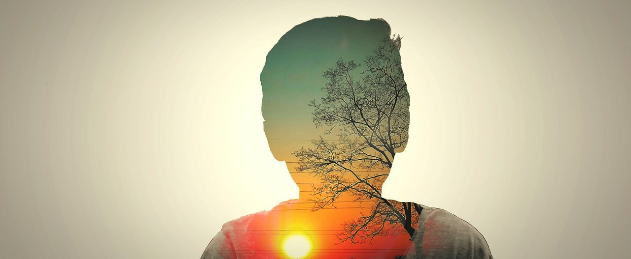 Silhouette One Person Adults Only Only Men Adult Close-up One Man Only Three Dimensional People Men Sunset Human Body Part Outdoors Day Merged EyeEm Best Edits EyeEmBestPics Awesome_captures Double Exposure Awesome_shots AWESOME!!