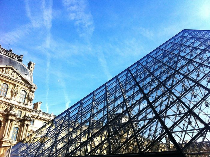 Amazing Architecture Louvre Musée Du Louvre Paris Museum Art Pyramid Tourism Sky Old Buildings