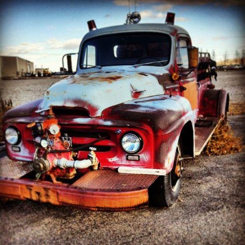 Firetruck Antique Rust Montana
