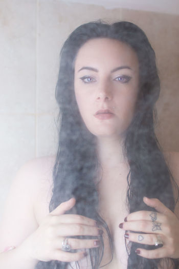 Modesty Beautiful Beautiful Woman Beauty Close-up Long Black Hair Long Hair Longing One Person People Pretty Eyes Pretty Girl Shower Shower Screen Soft Focus Portrait Soft Portrait... Streamzoofamily Wet Hair Woman In Shower Young Adult