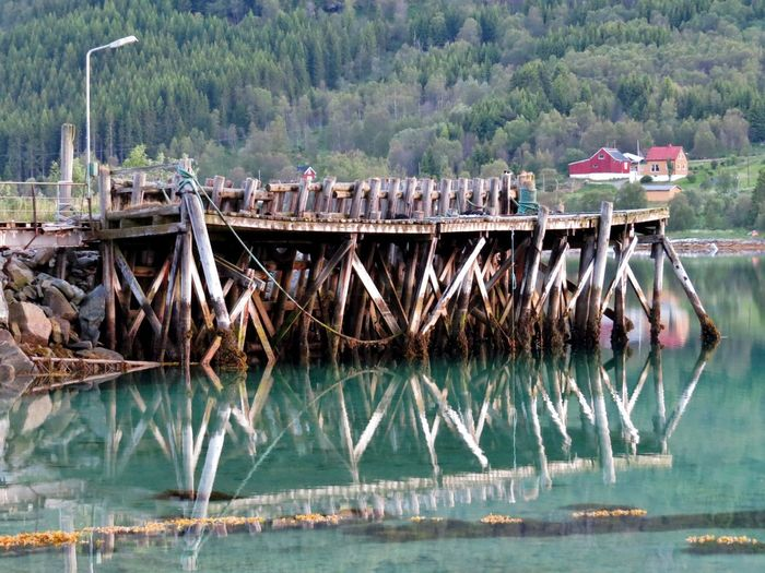 Architecture Brygga Day Nature Nautical Vessel No People Northern Norway Old Architecture Outdoors Ramsund River Tjeldsund Transportation Tree Water Waterfront