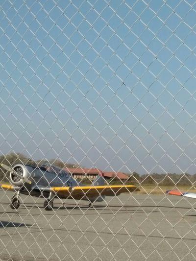 Aereo Aereoporto Aeroporto Di Cerrione Metal Protection Close-up Sky Giornata FAI Biellese. Aereo ✈