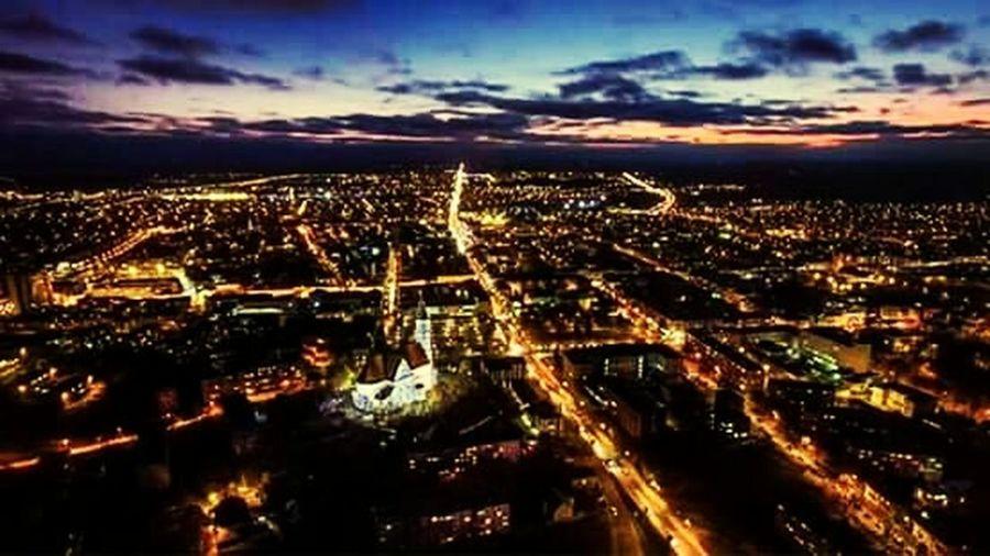 Lithuania Šiauliai Beautiful Sky Citycenter Illuminated City Skylove Streetview Sky City At Night Nightphotography Beutiful :)