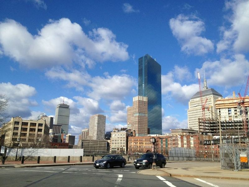 Boston Clouds Reflections Neighborhood Stroll 2012 Pivotal Ideas Massachussets Skyscrapers Clouds And Sky Beautiful Cityscapes The Pru Prudential Bldg John Hancock Building Boston, Massachusetts