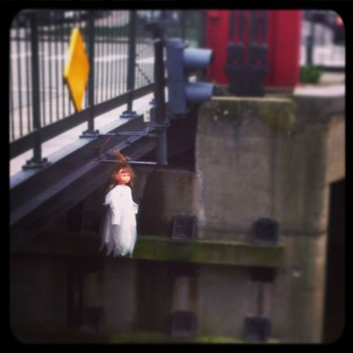 Doll Spooky In A White Dress Mysterious