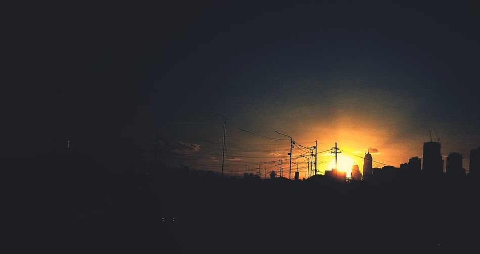 Sun Set in the city. First Eyeem Photo Sunsets Streetphotography Eyeem Philippines
