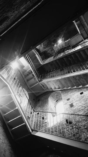 step by step... Medieval Tower Medieval City Medieval Architecture Tuscany Italy Torre Guinigi Lucca Lucca Italy Tuscany Steps And Staircases Staircase Steps Illuminated Indoors  High Angle View Architecture Spiral Staircase No People Day