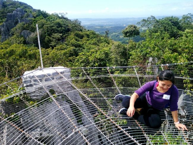 It was really scary.. 🙈😂💪 spider web bridge on top of Rock Formation Eyeem Philippines Pinay Traveler Discover Philippines Ecotourism Travel Tanay,rizal Masungi Rock Formations The Tourist