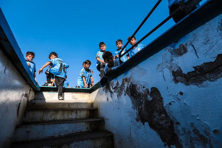 Belgrano Belgrano De Córdoba Boys Cebollita Childhood Friendship Futbol Low Angle View Soccer