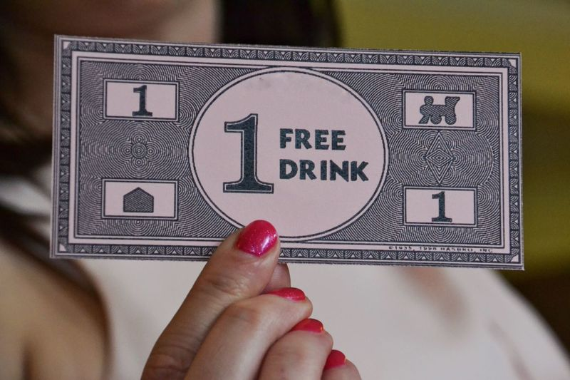 Things I Like Drinking Drinks Voucher Token Free