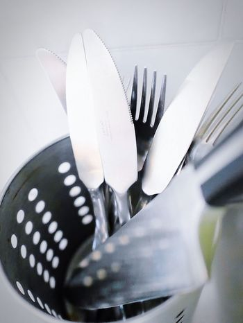 Cooking Still Life Pattern Pieces Kitchen Utensils Object Photography Still Life Photography Kitchenware Inthekitchen Kitchen Items StillLifePhotography Utensils Fork Knife Knifes Eating Dishes Clean After Dinner Steel Stainless Steel  Industrial Metal Grey