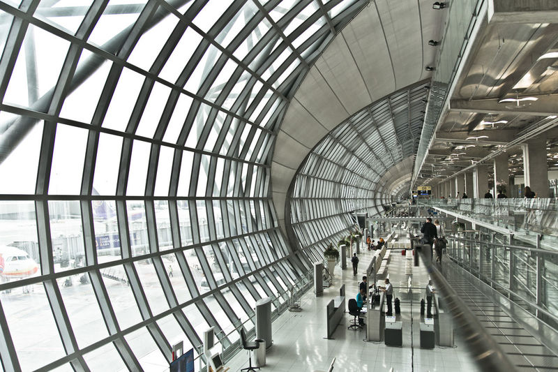 Architecture_collection Building Contrast Lines Perspective Structure The Architect - 2016 EyeEm Awards Windows Airport Bangkok Suvarnabhumi Airport Glass