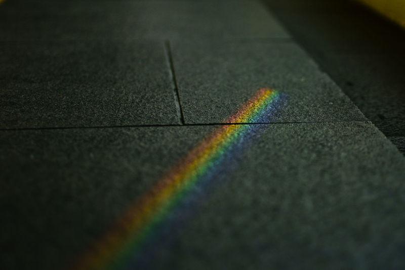 High angle view of rainbow