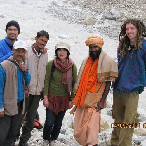 Traveller has no Religion . @Gaumukh (@Source of river Ganges) with fellow travelers from Japan, Australia. India Indiatourism Incredibleindia Gangotri Uttarakhandtourism Uttarakhand Trekkinginuttarakhand Solotrekking Gaumkh glacier Ganges Sourceofganges Adventuretourism Gangotrinationalpark