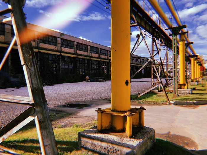 industrial architecture Factorie Factories Industrial Architecture And Sky Industrial Architecture Industrialbeauty Industrial Building  Industrial Windmill Industrial Architecture Sky Nature Metal Building Exterior Architectural Column Outdoors Plant Park - Man Made Space Outdoor Play Equipment