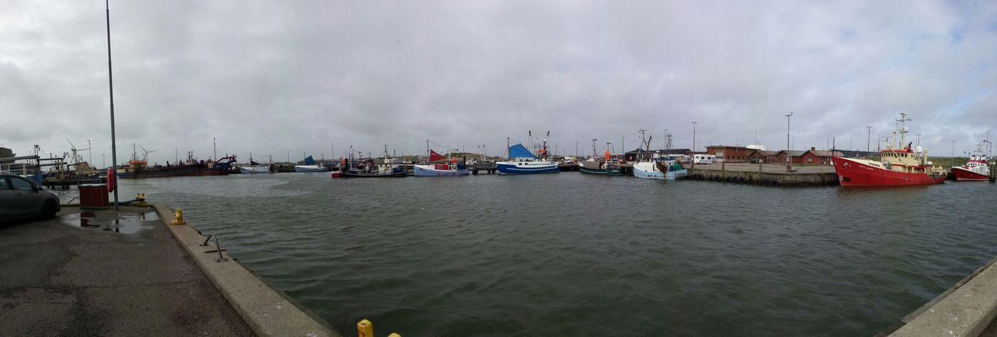 Scandinavia Denmark Dänemark Dk Panorama Hvide Sande Havn Hafen Harbour
