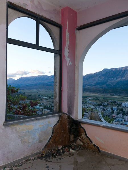 Albania Albania Tour Gjirokaster Arch Architecture Day Destroyed Building Indoors  Landscape Mountain Mountain Range Nature No People Sky Window