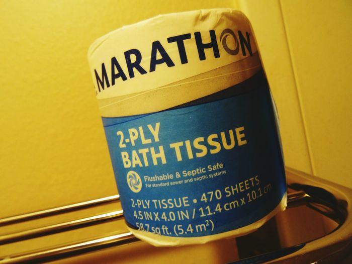 """Marathon"" Funny Brand Toilet Paper Brand Name Toiletpaper"