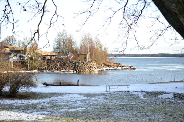 Suomenlinna island in Finland. Baltic Sea Cold Cold Temperature Cold Weather Finland Helsinki Ice Island January Nature Rocks Rocks And Water Sea Snow Sun Sunny Sunny Day Suomenlinna Travel Travel Destinations Traveling Trip Winter Wintertime