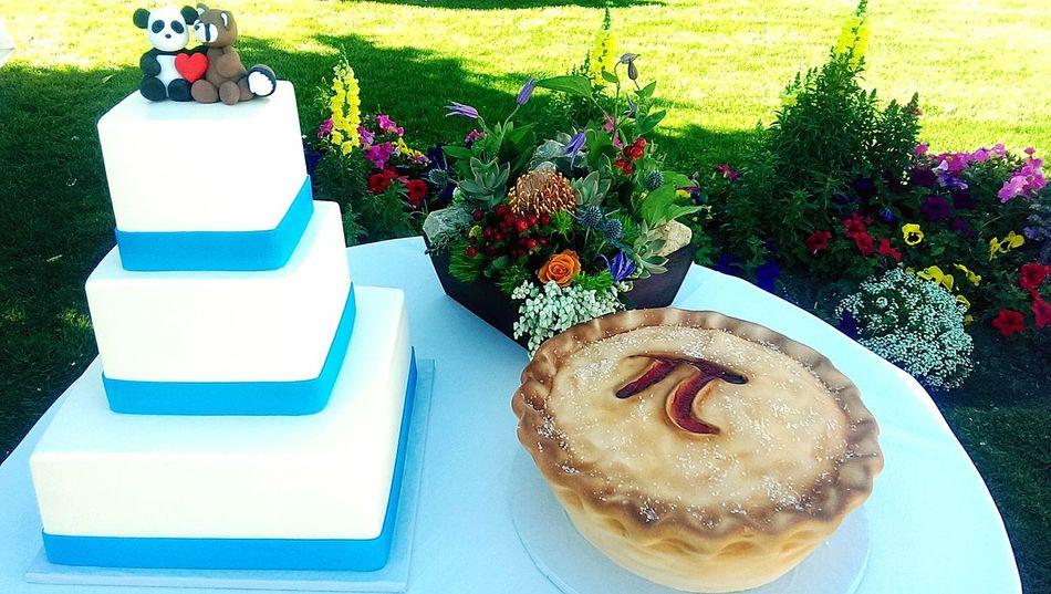 Pi Day Wedding Cake