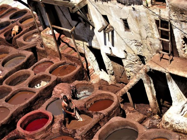 Architecture Close-up Day Leather No People Outdoors Rusty Tanner Tannerie In Fez Tannery