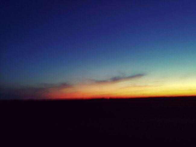 Sunset Blau Plain Low Lowlands Lowland Hungary Half-light