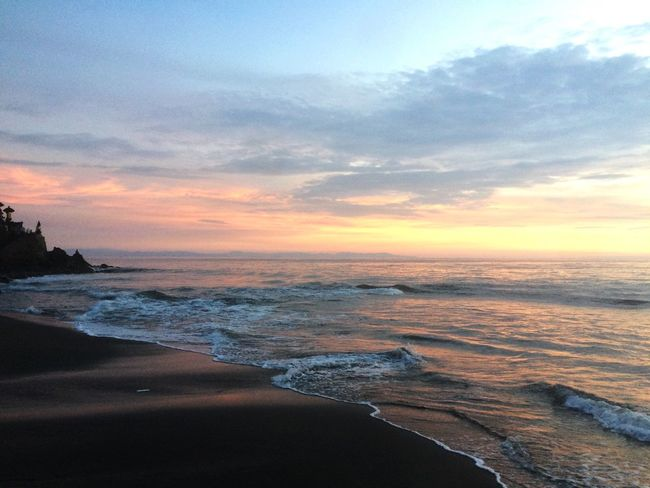 Sunset in senggigi beach