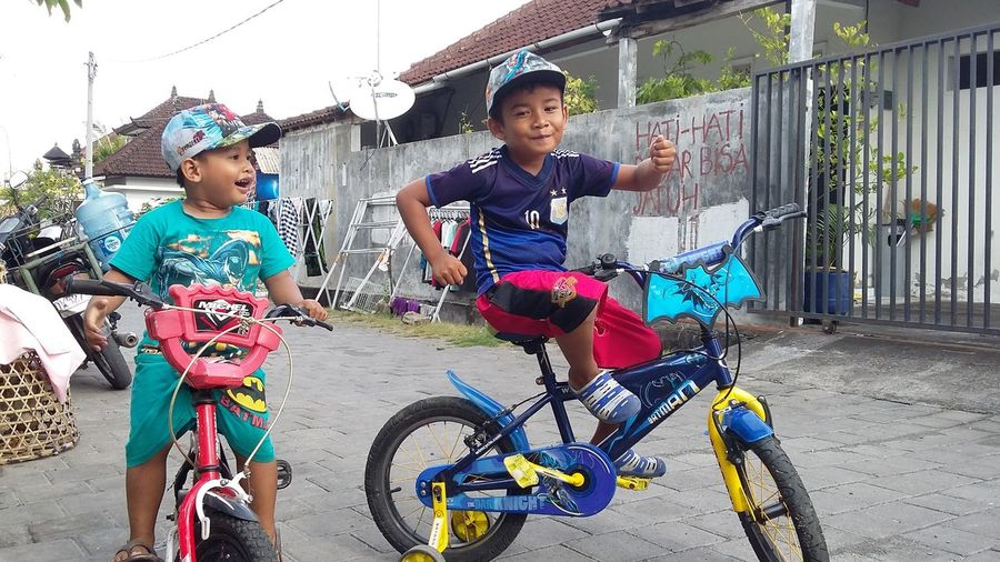 Cycling always fun😆 Kids Cycling Togetherness Friendship Childhood Fun CyclingUnites