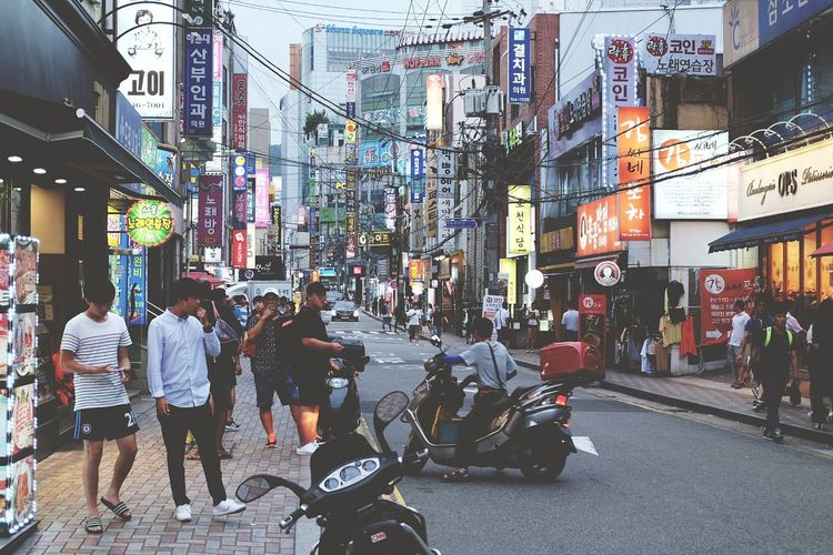 street culture City Life City Street Street City Large Group Of People People Walking Road Culture Korea Photos Busan Nightlife Motorcycle Outdoors Store Building Exterior Travel Destinations Architecture Men Transportation Adults Only Built Structure Pedestrian Adult