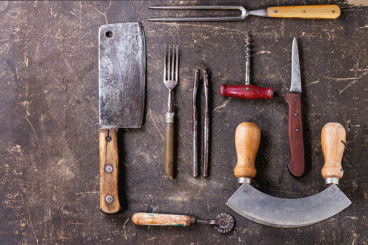 Close Up Of Kitchen Utensils