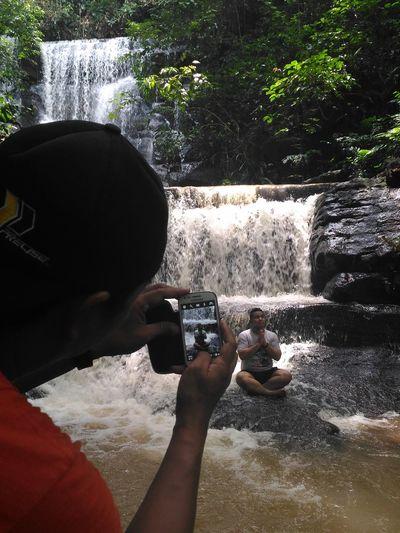 Hello World Enjoying Life Memories Curuqcountry Indonesiatravel Indonesiatourism Indonesiahere Indonesian Waterfall