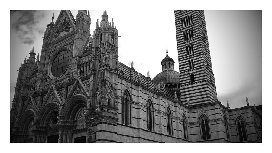 Siena Architecture Building Exterior Low Angle View History Built Structure Skyscraper Façade Sculpture Day Sky Outdoors No People City Politics And Government