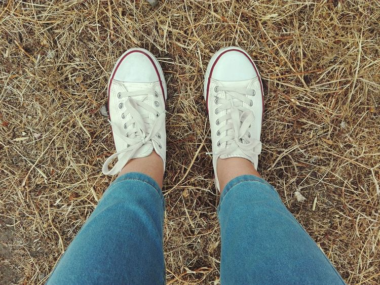 Moments Shoes Converse Human Leg Directly Above Nature Lifestyles Day Women Close-up High Angle View Like4like Myphoto Photooftheday Follow4follow MyPhotography Photo White Color Yellow