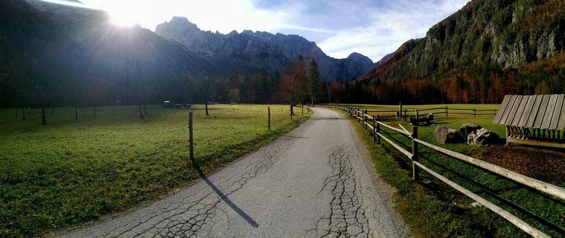 Heaven on earth Sunlight Landscape Nature Mountain Beauty In Nature Grass Sky Day Autumn Colours Logarska Dolina Slovenia