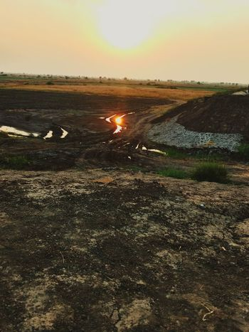 SUNSET............ Moto G4 Plus Sunset Nature Beauty In Nature Outdoors No People Landscape Tranquility