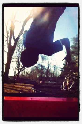 Flipping out at the park