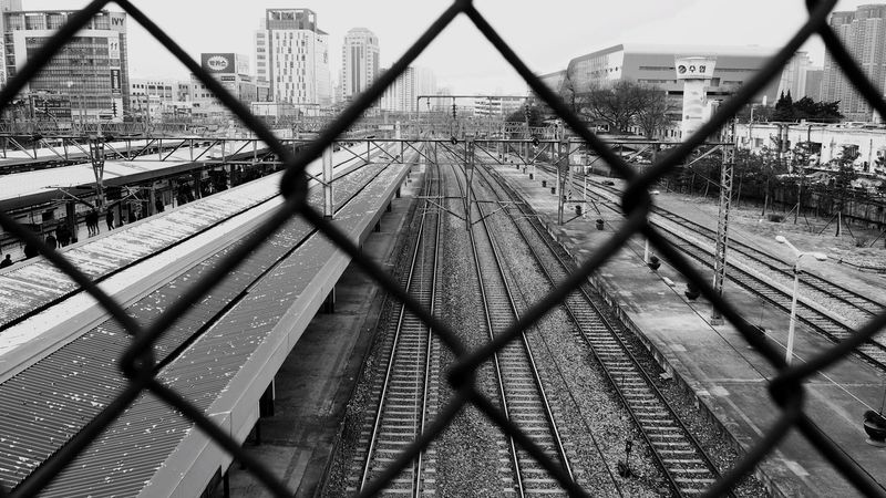 Black & White Blackandwhite Photography Blackandwhite Taking Photos Enjoying Life Trainway