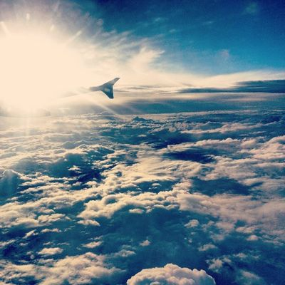 Cruising at 38k feet. India Puddingcamera Instagram Contestgram Flight Sky Blue plane Clouds