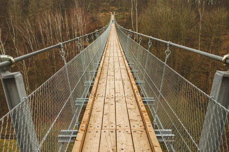 View of footbridge over land