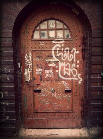 Door Red Brick Closing The Weeks's Door